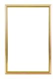 Golden frame. Over white background Royalty Free Stock Photos