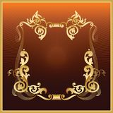 Golden_frame Stock Photography