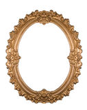 Golden frame. A decorative golden frame isolated on white Stock Photos
