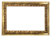 Golden frame. Antique golden frame isolated on white Royalty Free Stock Photos