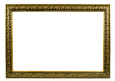 Golden frame. Classic golden frame with decorative pattern Stock Photos