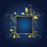 Golden frame vector illustration