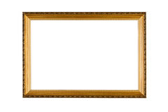 Golden Frame. Against a white background Stock Image