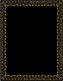 Golden frame with arabesque ornament on black Royalty Free Stock Image