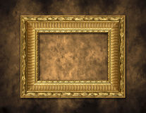 Golden Frame on Artistic Background Royalty Free Stock Photography