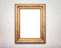 Golden frame on background Royalty Free Stock Photos