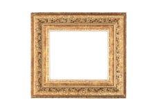 Golden frame with blank space. Vintage golden frame with blank space Stock Photo