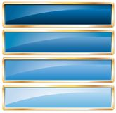 Golden frame blue Royalty Free Stock Photo