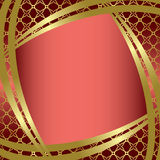 Golden frame with center gradient - vector Stock Photo