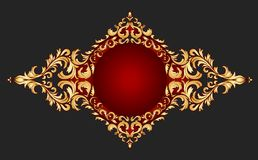 Golden frame classical style Stock Images
