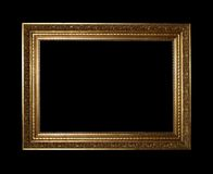 Golden frame with clipping path Stock Photo