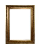 Golden frame with clipping path Royalty Free Stock Photo