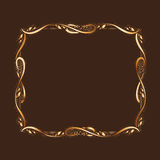 Golden Frame With Copyspace Stock Images