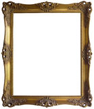 Golden Frame Cutout Stock Images