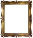 Golden Frame Cutout Stock Images