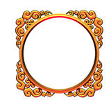 Golden frame. 3d golden round ornamented frame border royalty free illustration