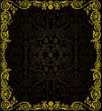 Golden frame on dark culed background Royalty Free Stock Image