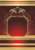 Golden frame on the decorative background Stock Photo