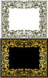 Golden frame with decorative floral Royalty Free Stock Photography