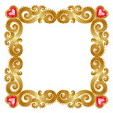 Golden frame Stock Photo
