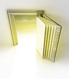 Golden frame with door as open book Stock Images