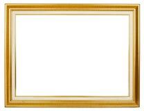 Golden frame. Elegance golden picture frame on white background Royalty Free Stock Images