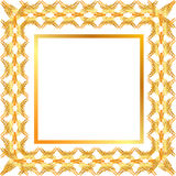 Golden frame. Golden floral frame with ears Stock Photo