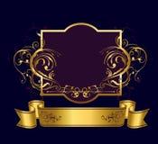 Golden frame Stock Images