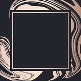 Golden Frame fluid art vector Geometric elegant background cover card. Golden Frame fluid art vector Geometric elegant background cover vector illustration