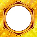 Golden frame on gold background Stock Image