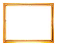 Golden frame isolated Stock Images