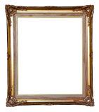 Golden frame isolated Stock Photography