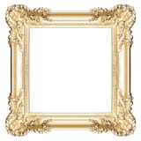 Golden frame isolated on white Stock Photography