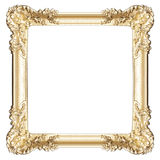Golden frame isolated on white Royalty Free Stock Images