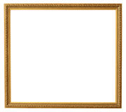 Frame. Golden frame isolated on white Stock Photography