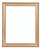 Golden frame isolated on white background Stock Images