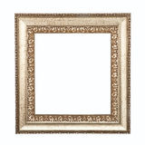 Golden frame isolated on white background. Ancient golden frame isolated on white background Royalty Free Stock Photography