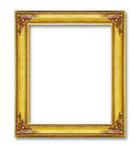 Golden frame isolated on white background Royalty Free Stock Photo