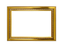Golden frame isolated on the white Royalty Free Stock Photo