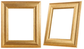 Golden frame isolated. royalty free stock photos