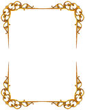 Golden frame isolated on white Stock Photos