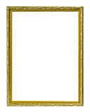 Golden frame isolated on the white background with working path Royalty Free Stock Images