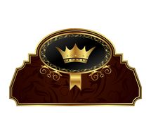 Golden frame label for design packing Royalty Free Stock Photography