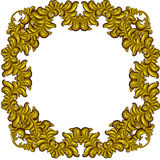 Golden Frame with luxury floral elements. Baroque style. Royalty Free Stock Image