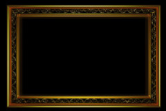 Golden frame with ornament Royalty Free Stock Image