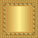 Golden frame. With ornaments - vector illustration Stock Image