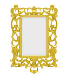 Golden frame over white Stock Image