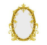 Golden frame over white Royalty Free Stock Image