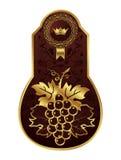 Golden frame for packing wine Stock Images
