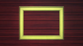 Golden frame on paneling Royalty Free Stock Photo